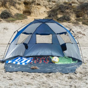 Tips for beach camping find some shade