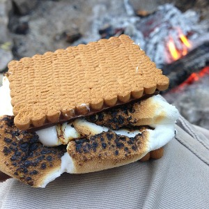 S'mores while camping