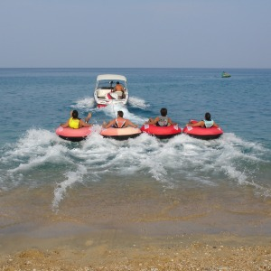 Tubing near the lake