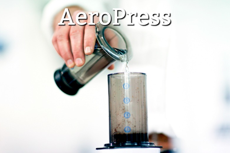 Camping coffee AeroPress
