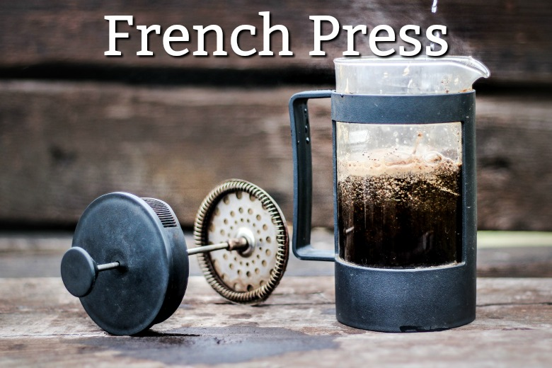 Camping coffee french press
