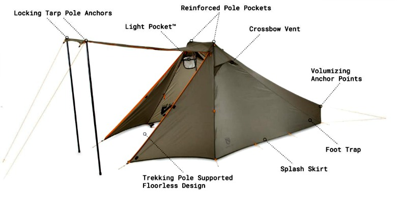 Nemo Spike Trekking Pole survival tent