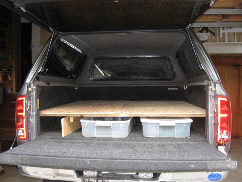 truck bed camping elevated sleeping platform
